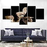 WJWORLD Jésus Saint-Esprit Impression sur Toile Peinture Décor À La Maison Mur Art Affiche 5 Pcs # 1-150 * 80cm-Cadre