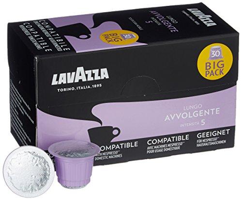 Lavazza Lungo Avvolgente, 120 Nespresso kompatible Kapseln (4 x 30 Kapseln)