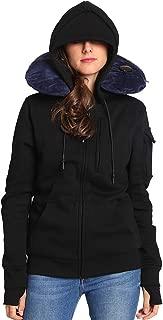 BOMBAX Women Travel Jacket Hoodie 10 Pocket Flight Bomber Sweatshirt Coat+Pillow