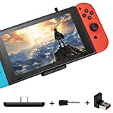 GuliKit Route Air Pro Bluetooth Adapter Compatible for Switch & Lite, PS4/PC, Support in-Game Voice Chat, Wireless Headphone Speakers, Low Latency Wireless Audio Transmitter for Airpods
