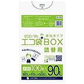ごみ袋 90L 半透明 100枚 ポリ袋 詰替用 0.02mm厚 Bedwin Mart