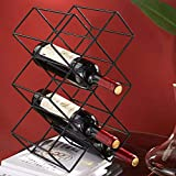 XWZJY Soporte para Almacenamiento de Vino de Mesa de Metal para 10 Botellas, Completamente ensamblado, Cocina, Comedor, Bar (tamaño: 27 * 18 * 40 cm)