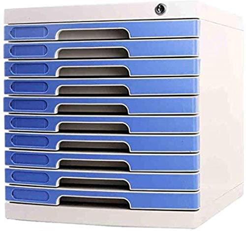 File cabinets File Privacyplastic Storage Drawers Desk Unit Organizer Durable Plastics Ten-layer Lock Upper Useful Drawer Plastic(29.5X39.4X32.5CM) bookcase (Color : White)