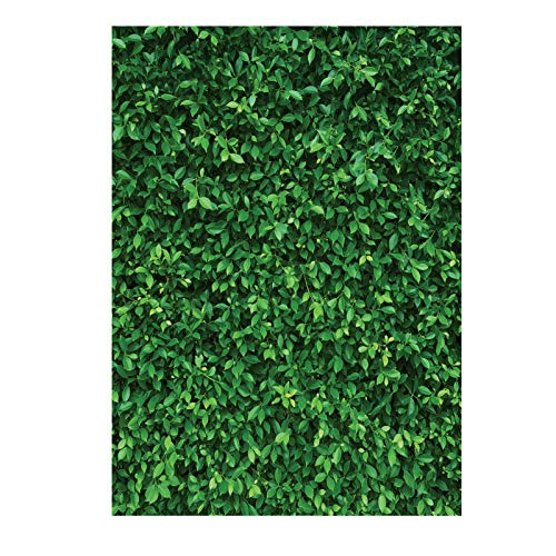 LYWYGG 6x9FT Green Leaves Photography Backdrops Nature Leaf Backdrop Birthday Background for Birthday Party Seamless Photo Booth Backdrop CP-87-0609