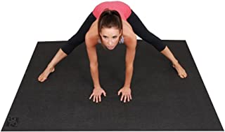 Square36 Large Yoga Mat 6ft x 4ft (72 Inch x 48 Inch) & 6mm Thick Non-Toxic. Designed For Yoga & Stretching Without Shoes