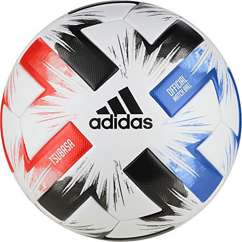 adidas Tsubasa Pro Balón de Fútbol, Men's, White/Solar Red/Glory Blue/Black, 5