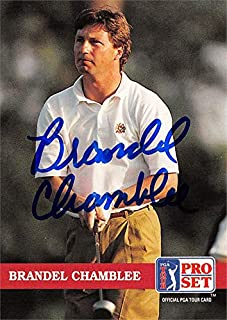 Brandel Chamblee autographed trading card (Golf, PGA Tour, Texas Longhorns, SC) 1992 Pro Set #132