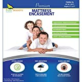 Twin Extra Long (Twin XL) Mattress Protector (8'-11' Depth) - Zippered Waterproof Cover Hypoallergenic Premium Quality Encasement Protects from Dust, Allergies