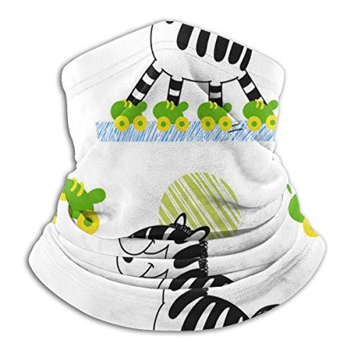 Pearl Bertie Nahtloser Halbgesichtsschal Sturmhaube Zebra-Rollschuh Nahtloser Mikrofaser-Halswärmer-Mundschutz