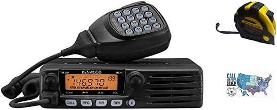 Bundle - 3 Items - Includes Kenwood TM-281A Mobile Radio, 2m, 65W with The New Radiowavz Antenna Tape (2m - 30m) and HAM Guides Quick Reference Card