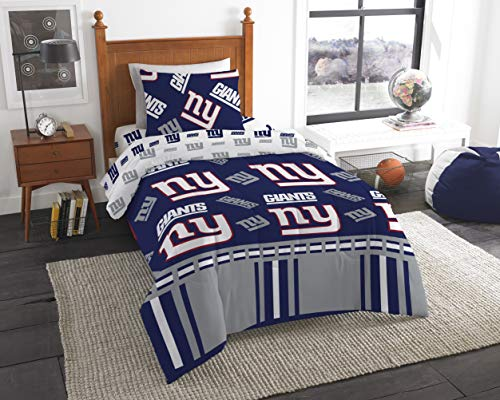 Officially Licensed NFL New York Giants Twin Bed in a Bag Set, 64' x 86'