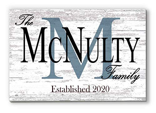 Broad Bay Family Name Sign Personalized Wedding Gift for Couple Monogram Established Custom Wall Decor EST. Date