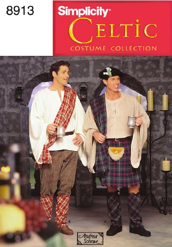 Simplicity Sewing Pattern 8913 Men Costumes, AA (XS-S-M)
