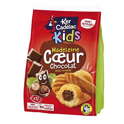 KER CADELAC - Madeleines Coeur Chocolat 420G - Lot De 4 - Livraison Gratuite