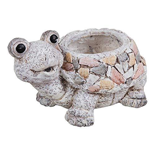 Juliana Country Living Pot de fleurs en mosaïque rustique avec motif de tortue