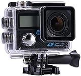 NK-AC3222-PDP Cámara Deportiva NK 4K de 16 MegaPixels, Sensor Sony IMX078, Pantalla LCD 2 Pulgadas a Color, Color Negro (Reacondicionado Certificado)