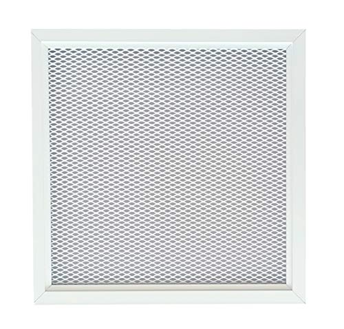 HVAC Aluminum Ventilation Grille with Metal Net in White Color Powder Coating RAL9016, Indoors Air Vent in White, Ventilation Grille with Diamond Shape Pattern. (11.8'' x 11.8'' (300 x 300 mm))