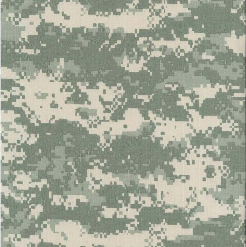 Water Repellent Machine Washable Army ACU Universal Digital Camouflage Nylon Cotton Ripstop Fabric by The Yard
