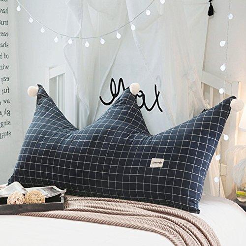 JXXDDQ Cojín de respaldo para la cama Cojín para la cama infantil Respaldo de la corona Cama doble individual Almohadillas de la cintura Bolsa para la cabecera de la princesa, lavable extraíbl