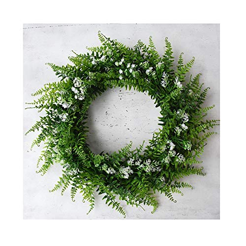 YNGJUEN Künstliche Kranz Eukalyptus Kranz Zierpflanze künstliche Blumen-grünes Blatt Blumenkranz Dekoration Hochzeit Etikette Dekoration 42cm