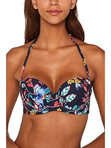 ESPRIT Damen Jasmine Beach pad.Bra Bikinioberteil, Blau (Ink 415), 85B(Herstellergröße: 42 B)