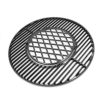VICOOL Cooking Grid Grates for Weber 22'' Original Kettle Premium Charcoal Grill, 22'' Weber Performer Premium & Deluxe Charcoal Grill, Replacement Weber 8835 Porcelain Coated Cast Iron Grill Grates
