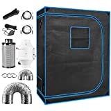 48' x 24' x 64' Indoor Plant Grow Tent Complete Kit, Hydroponics Tent System with 4' Inline Fan + Carbon Filter + Ducting Combos + Timer + Hangers