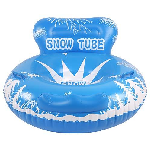Juguetes para la Nieve, Trineo de Nieve de Invierno con diseño de Mango de Carga de 100 kg, Adultos flotantes inflables para niños