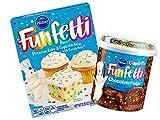 Pillsbury Funfetti Premium Cake & Cupcake Mix with Frosting Bundle (Chocolate Fudge)