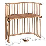 Babybay® Boxspring cuna colecho babybay de madera maciza de haya   Cama infantil infinitamente ajustable en altura & ecológica   Cuna que crece con el niño, natural lacado