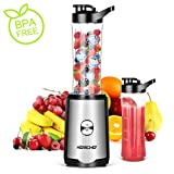 Smoothie Blender, Herrchef Personal Blender for Shakes and Smoothies, 350W Single Serve Blender for...