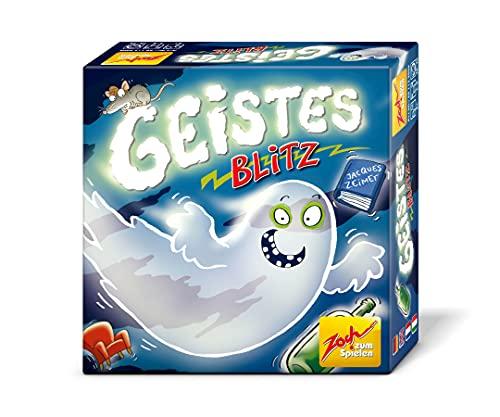 Zoch 601129800 Geistesblitz, das lustige Reaktionsspiel für Groß und Klein, wer schnell die richtigen Figuren schnappt, hat gute Chancen zu gewinnen, ab 8 Jahren