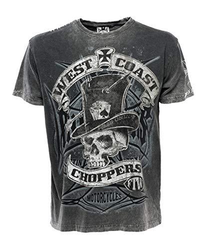 West coast Choppers Cash Only - Camiseta para hombre negro/gris L