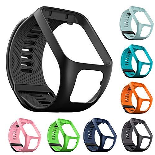 Bracelet de Montre en Silicone pour Tom Tom Runner 2/3 Bracelet de Étanche et Sport pour Tomtom Golfer 3 Adventurer