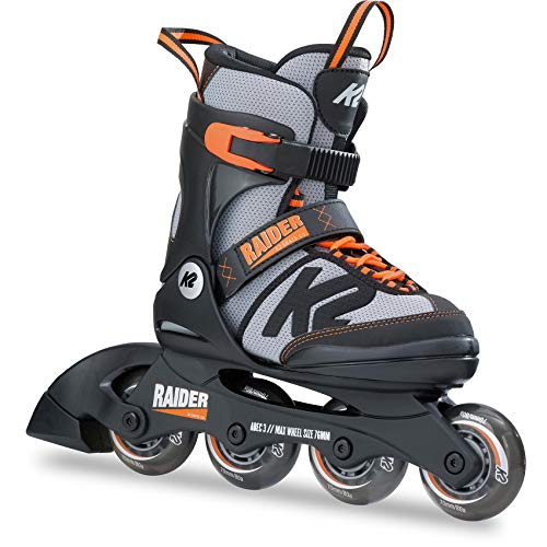 K2 Skates Jungen Inline Skate Raider — black - grey - orange — L (EU: 35-40 / UK: 3-7 / US: 4-8) — 30B0201