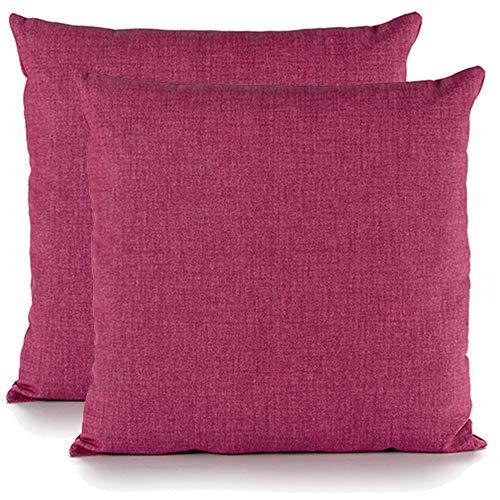 Juego de 2 Cojines 40 x 40 cm para el Hogar, sofá, sillas, Cama… Cómodo y Práctico Stock y tamaños (40 x 40 cm, Fucsia)