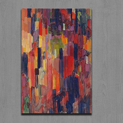 YEJHUSG Arte de la Pared Bajo Pintura al óleo Hecha a Mano Vertical en la Lona Cuadros de la Pared para la decoración casera de la Sala de Estar