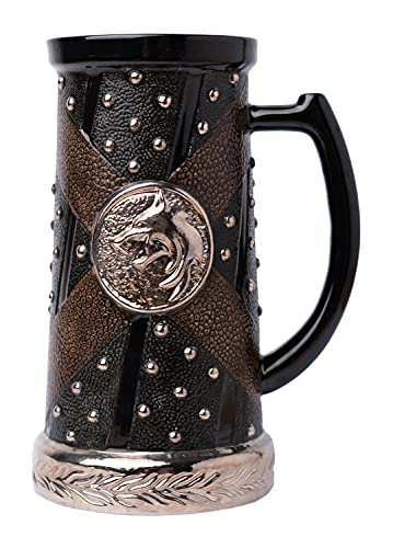 Grupo Erik Jarra The Witcher - 750ml, Taza medieval - de cerveza - decoración - Producto con licencia oficial (JAR001)