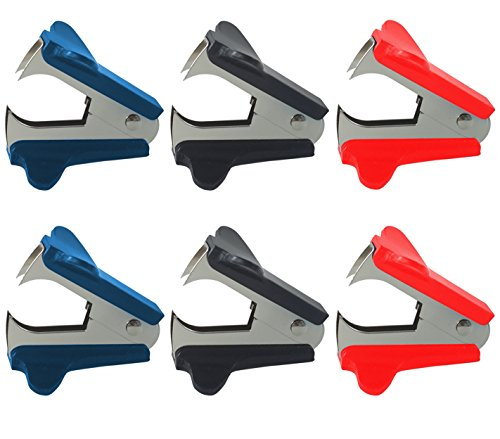 Clipco Staple Remover 6Pack Assorted Colors 2