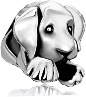 Pet Lover Dog Puppy Paw Family 925 Sterling Silver Bead Fits European Charm Bracelet