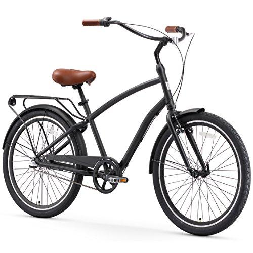 Review Of sixthreezero EVRYjourney Men's 3-Speed Hybrid Cruiser Bicycle, Matte Black w/Brown Seat/Gr...