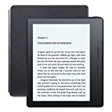 Kindle Oasis E-reader with Leather Charging Cover - Black, 6' High-Resolution Display (300 ppi), Wi-Fi, Built-In Audible - Includes Special Offers (Previous Generation - 8th)