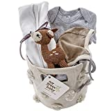 Organic Baby Gift Basket with Deer - Eco-Friendly, and Handmade!