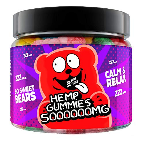 Gummies for Sleep, Pain, Anxiety, Stress, High Potency - Natural Oil Extract - Candy Gummy Bears with Organic Oil - Omega 3, 6, 9 & Vitamins B, E