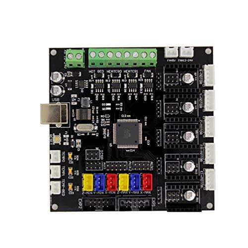 HETUI KFB2.0 3D-Drucker-Controller-Board-Rampen1.4 Motherboard-Modul Arduino (Schwarz)