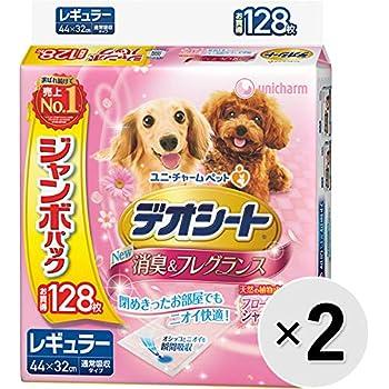 【セット販売】デオシート 消臭&フレグランス フローラルシャボンの香り レギュラー 128枚×2袋