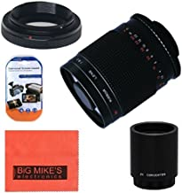 High-Power 500mm f/8.0 Telephoto Mirror Lens + 2x (doubles the zoom to 1000mm) for Canon Digital EOS Rebel T1i, T2i, T3, T3i, T4i, T5i, SL1, EOS 60D, EOS 70D, EOS 80D, 50D, 40D, 30D, EOS 5D, EOS1D, EOS5D III, EOS 6D, EOS 7D Digital SLR Cameras