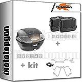 kappa maleta k400nt + maletas laterales kgr46npack2 + portaequipaje monolock + portamaletas lateral monokey compatible con honda nc 750 x 2020 20