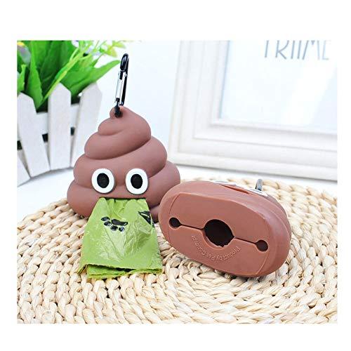 HaustierMüllsackspender in PoopForm ist bequemer mit Ihrem Toilettenbeutel zu verwenden. Silikonmaterial