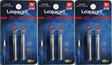 6 Loopacell CR435 BR435 435 Lithium Pin Type...